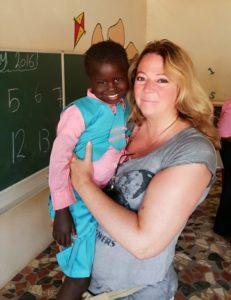 Theresa Sambou, 28-08-2012. Sponsorkindje van Familie T.