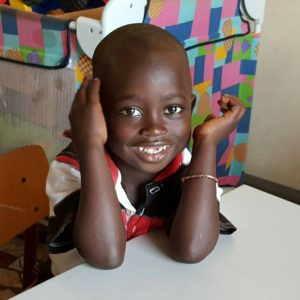 Ebrima Badjie, 14-04-2012. Sponsorkindje van Familie T.